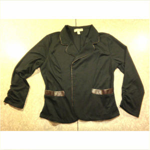 Kenar  Soft Leather-lined Jacket w Rauched Sleeves